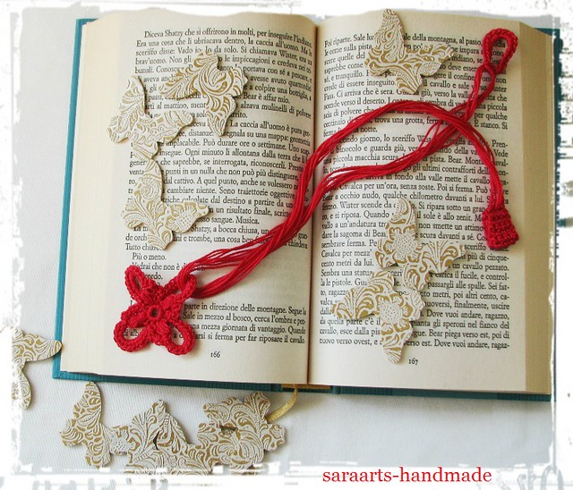 Red crochet Necklace