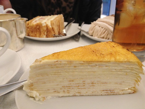 Crepe Cake at Lady M, NYC