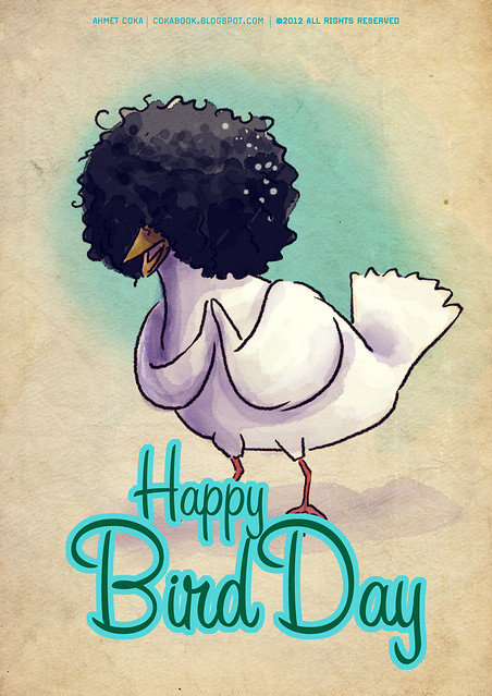 bird day card for hkurku