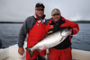 Father and son fishing at Langara Island