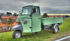 Piaggio Ape on the dike