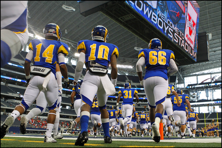 angelo state under the lights of cowboys stadium the upside of