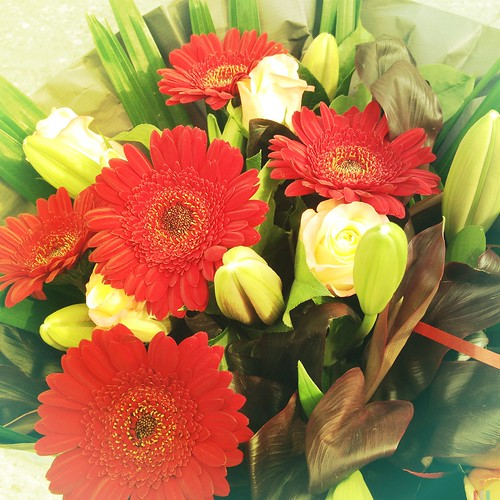 Farewell bouquet from NPM colleagues