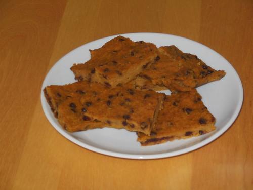 Paleo Pumpkin Chocolate Chip Bars