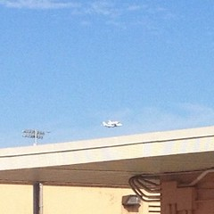 Space shuttle over our school today