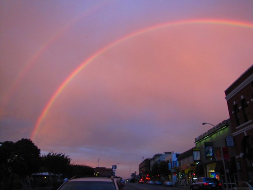 amazing double rainbow over San Francisco