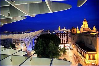 Sur le Metropol Parasol, Sevilla, Andalucia, Espana
