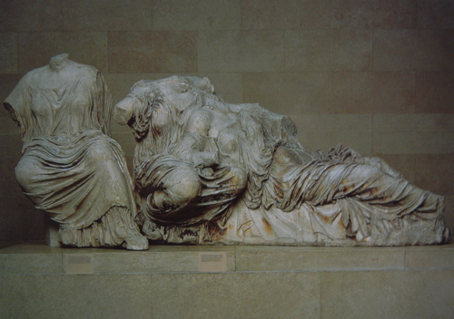 Hestia, Dione and Aphrodite, Pentelic marble, from the east pediment of the Parthenon, The British Museu, 2002 _ 8443 - 500