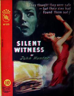 Silent Witness - Sexton Blake Library - John Hunter - No 375 - 1957