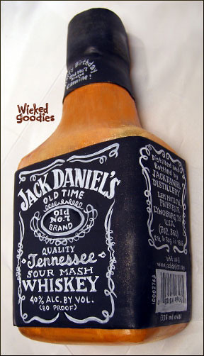 Jack Daniel S Bottle Cake Design By Wicked Goodies Flickr