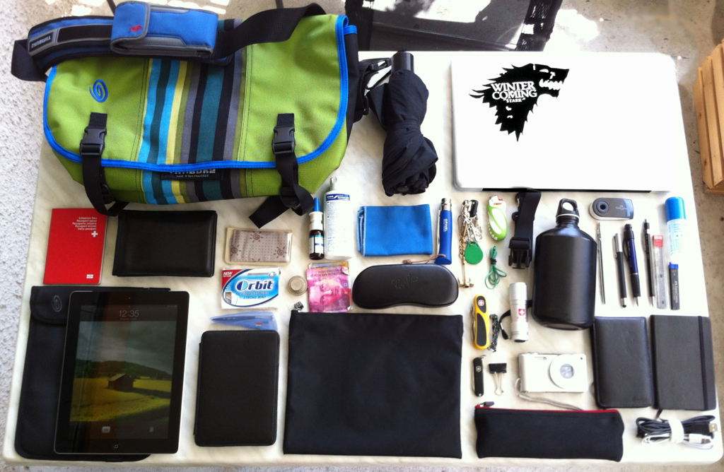 What's in my bag August 12, 2012