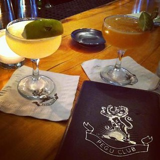Rhum Agricole Daiquiri and Pegu Club at Pegu club