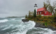 """Witch of October"" Eagle Harbor Lighthouse Michigan's Keweenaw Peninsula by Michigan Nut"