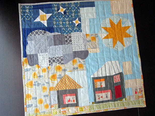 Nursery Versery mini quilt