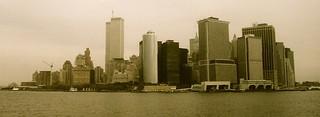 New York --- Skyline lower Manhattan --- Battery Park