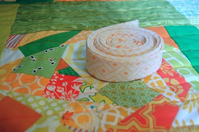 WIP: Citrus Improv Quilt
