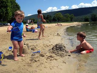 Cousins Building Sand Castles