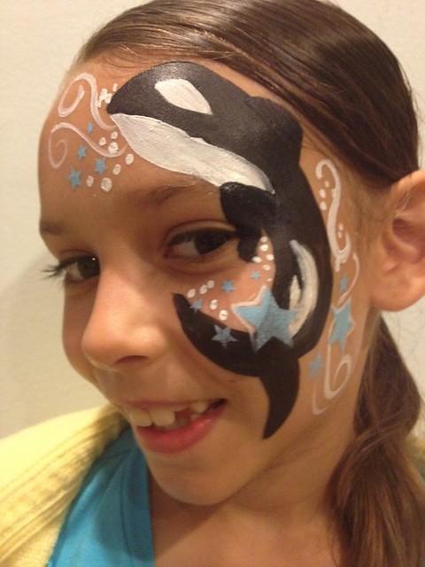 Killer Whale Face Paint