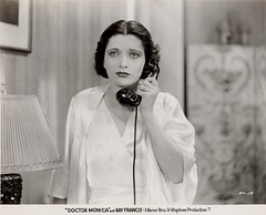 "Kay Francis, ""Doctor Monica"" (WB, 1934, dir. Wm. Keighley), original production still."