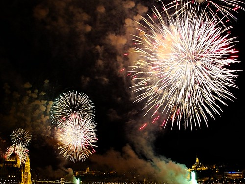 Budapest on the night of the Fireworks: the Finale - August 20 2012