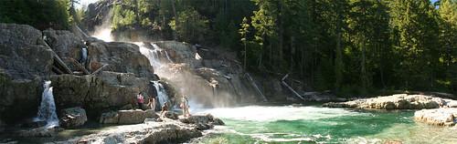 the sunny Lower Myra Falls