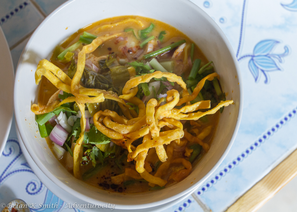 Khao Soi Chicken Curry prepared at Smart Cook Thai Cookery School