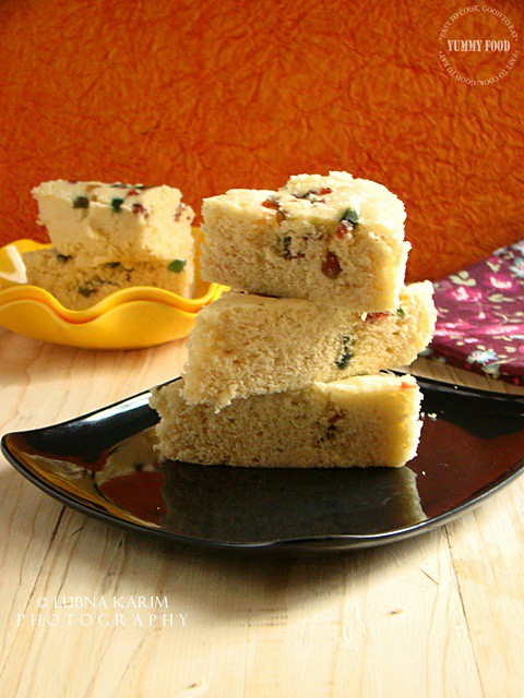 Microwave Condensed Milk Cake with Tutti-Frutti