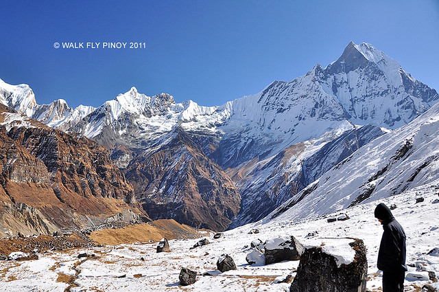 Capture the Colour: White at the Annapurna Base Camp, Nepal