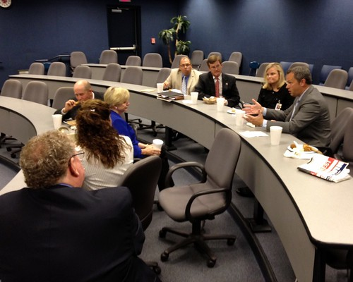Meeting with members of the Gaston County School Board