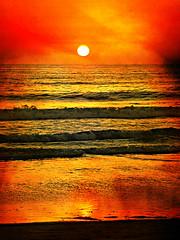 [フリー画像素材] 自然風景, 海, ビーチ・海岸, 朝焼け・夕焼け ID:201209011800