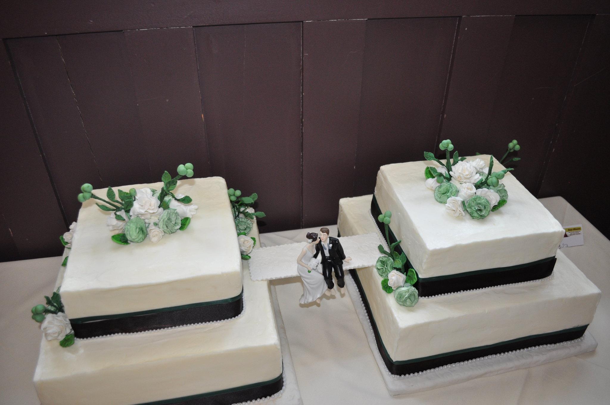 Wedding cake with bridge