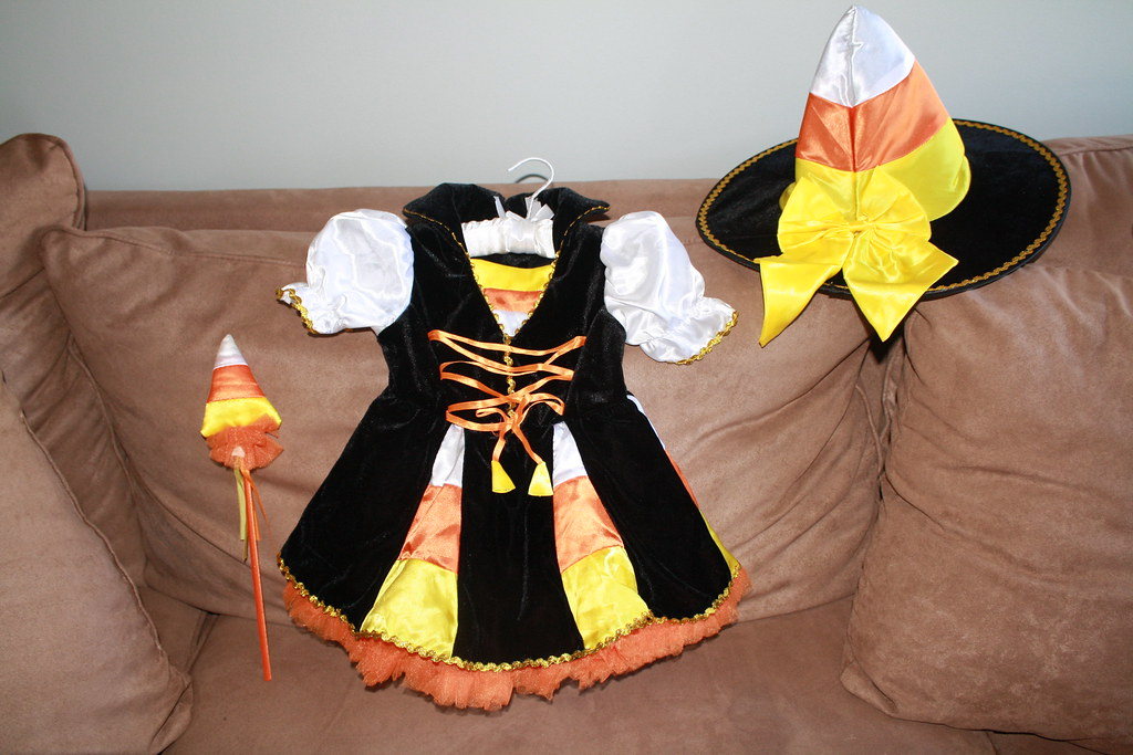 SOLD-Candy Corn Witch Costume