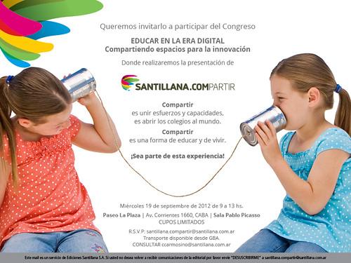 Invitacion SANTILLANA.COMPARTIR