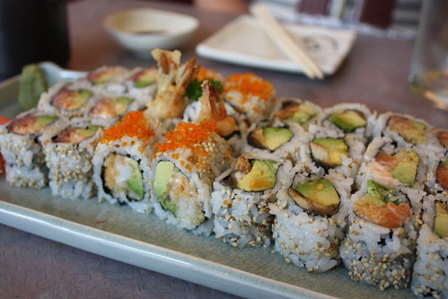 sushi plate at Oishi Kada in Kensington Market - Toronto