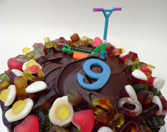 Chocolate Haribo Scooter 9th Birthday Cake | Flickr ...