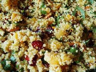 Apricot Cranberry Almond Quinoa in Orange Vinaigrette