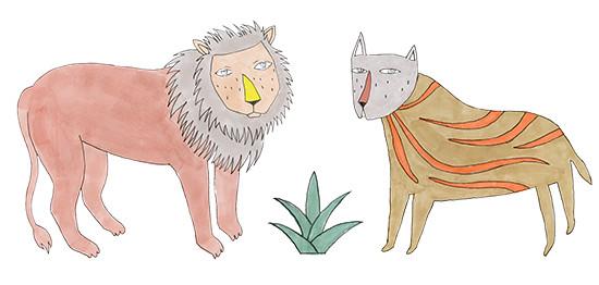 leon y tigre by Depeapa
