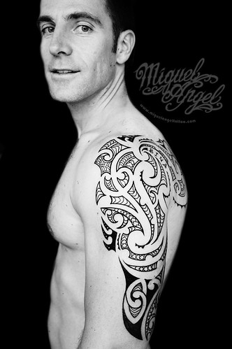 Polynesian tattoo (the owner)