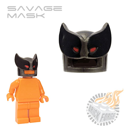 Savage Mask - Steel (black & red print)