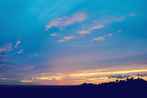 sunset sky sun clouds