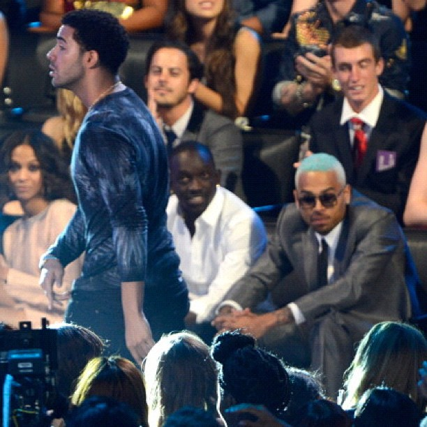 Drake and Chris Brown at the VMA