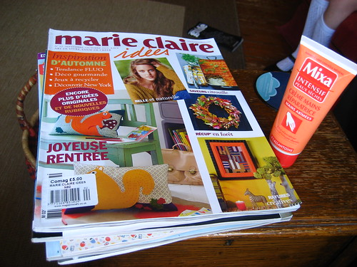 Marie Claire Idees and handcream