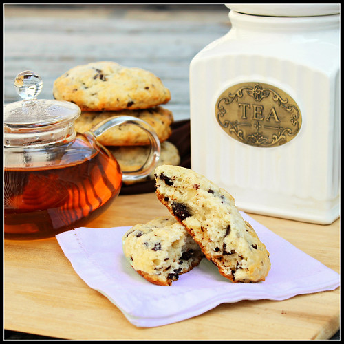 Cream Scones with Chocolate Chunks