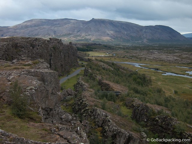 Meeting point of the American and Eurasian tectonic plates