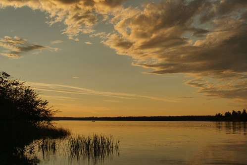 sunset sky lake water st clouds anne evening lac alberta eveningcolors