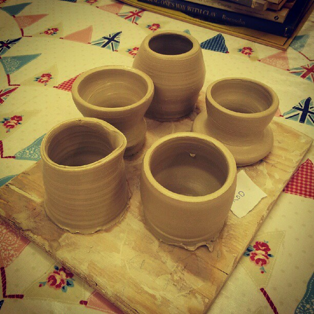 First pots at wheel school