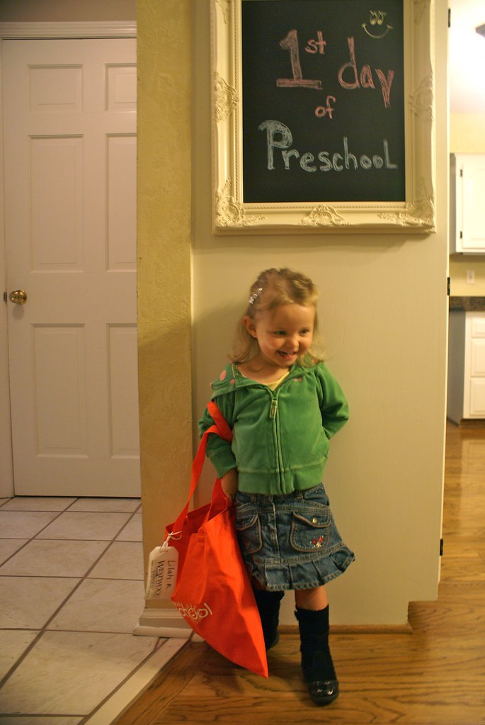 My baby's 1st day of preschool!