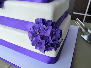 Wedding cake, side view