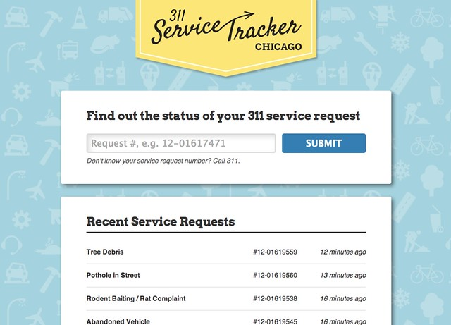 311 Service Tracker Chicago