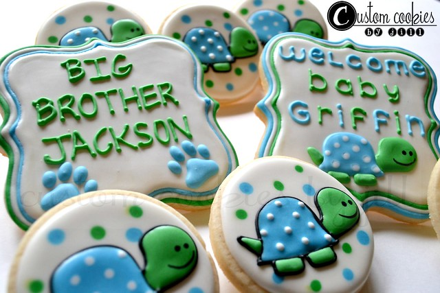 turtle baby shower cookies flickr photo sharing